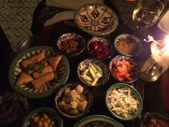 Le Marrakchi: Degustación de ensaladas