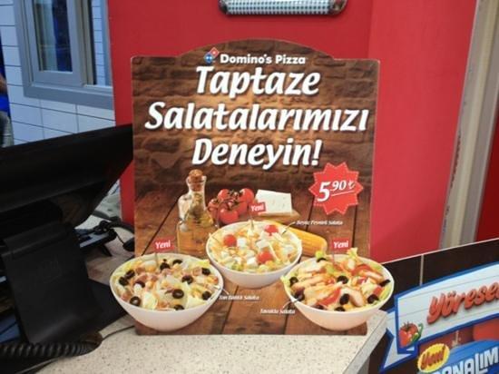 Fresh Salads Picture Of Dominos Pizza Istanbul Tripadvisor