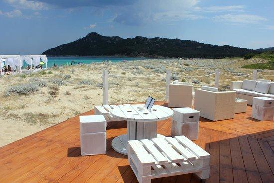 Is Fradis Beach Club: View from the bar
