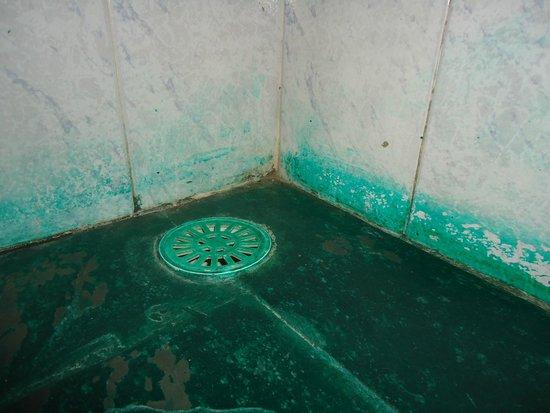 Eco Pousada Sierra: Ralos e rodapés pintados de verde