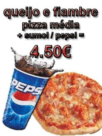 Pizzaria Italiana Xaramba: xaramba pizza de queijo e fiambre