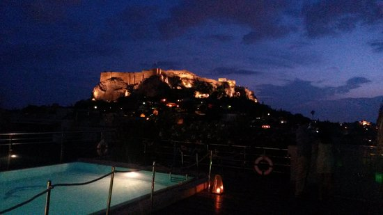 Electra Palace Athens: Acropolis from the pool deck