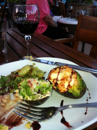 Pala Mesa Resort: the baked avocado in the resturant - YUMMMM