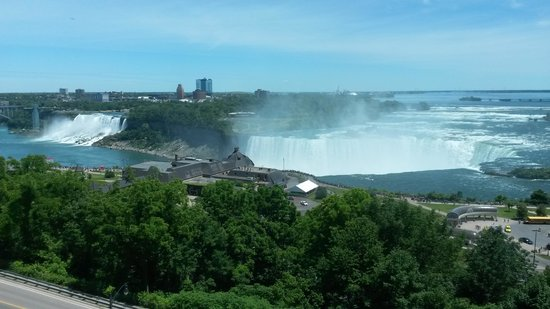 Niagara Falls Marriott Fallsview Hotel & Spa: our view from the 8th floor