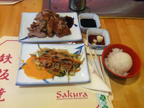 Sakura Japanisches Restaurant: Duck meal