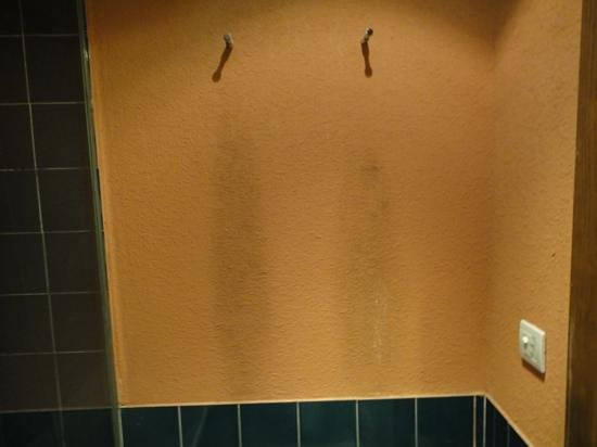 Hesperia Lanzarote: stained bathroom wall