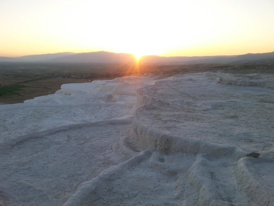 Pamukkale Thermal Pools : This is what the pools actually look like today. (June 2014.)