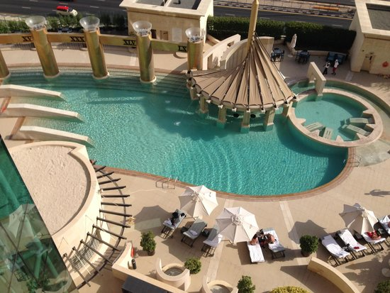 Raffles Dubai: View of the pool