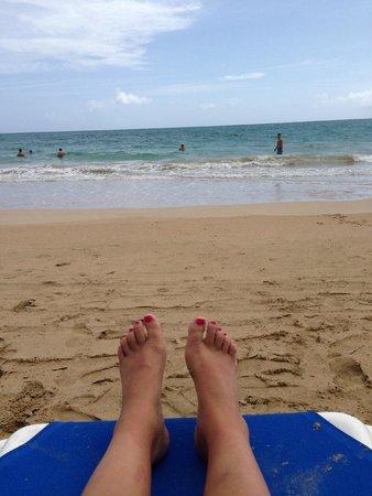 San Juan Marriott Resort & Stellaris Casino: relaxing on the beach