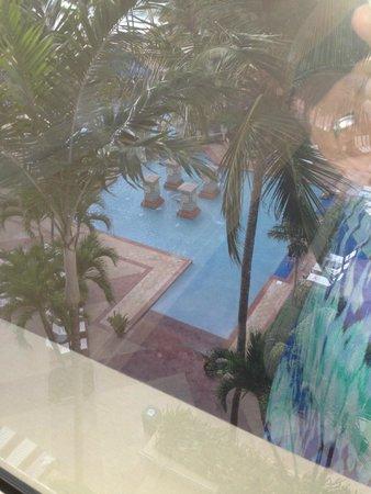 San Juan Marriott Resort & Stellaris Casino: View from our room to pool