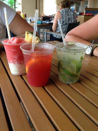 San Juan Marriott Resort & Stellaris Casino: some of the delicious drinks we tasted