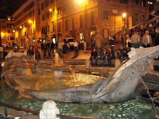 Spanische Treppe (Piazza di Spagna): Spanish STeps at night