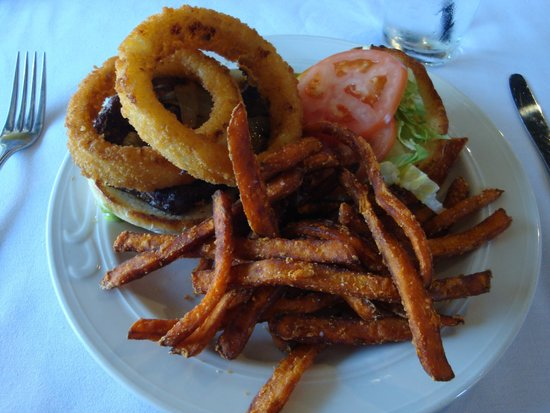 The Onion Grille: Signature onion burger & fries
