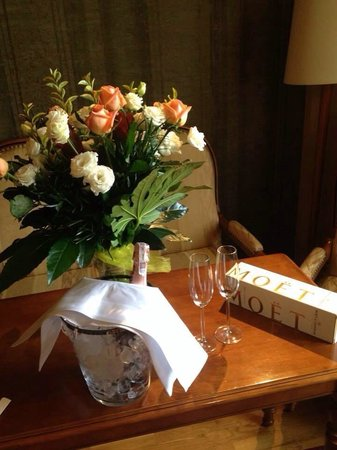 Hotel Wentzl: The hotel worked with my fiancé to have these treats waiting in the room to celebrate our engage