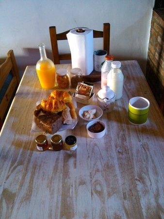 Cabanas Los Pioneros: el Desayuno