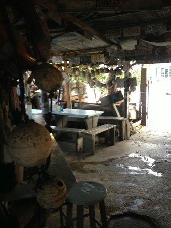 Inside seating at B.O.'s Fish Wagon