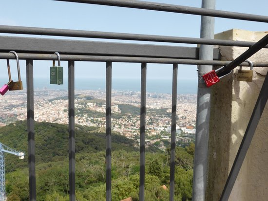 Tibidabo: Love Lock Location At Viewing Area