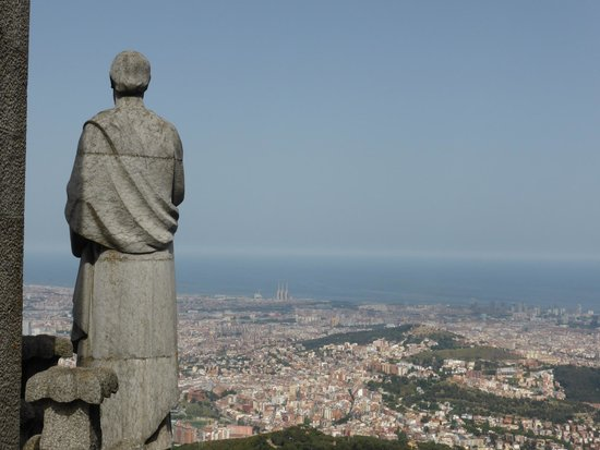 Parque de Atracciones Tibidabo: View From Top of Cathedral