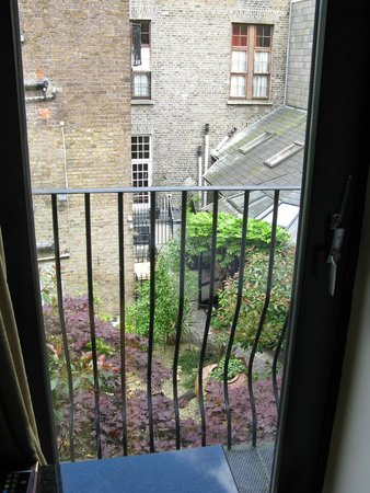 The Townhouse: View of the interior garden from room
