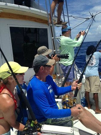 Panoply Sport Fishing & Luxury Charters : Aft deck on Panopoly