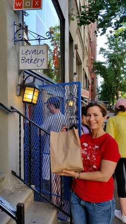 Levain Bakery : standing outside with my bag of cookies