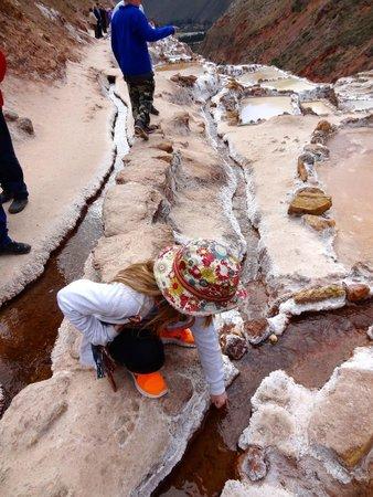 Salinas de Maras: warm spring water