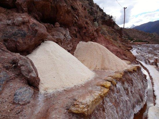 Salinas de Maras: 2 grades of salt