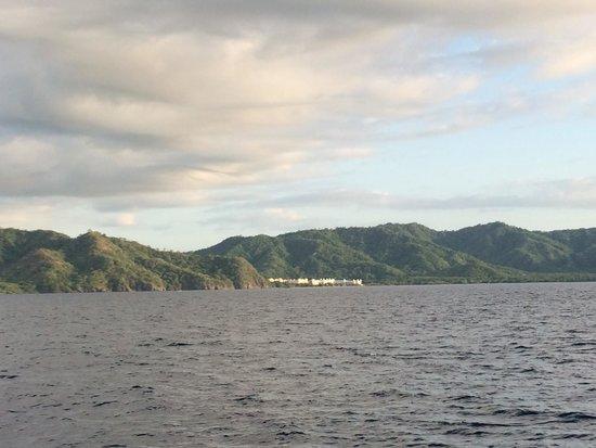 Hotel Riu Guanacaste: View of the Riu from the Catamaran Sunset Snorkel cruise