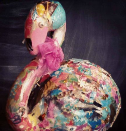 Arty Crafty Workshop: Clarabelle - the resident flamingo