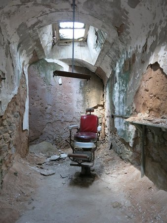 Barber's Chair at the Eastern State Penitentiary