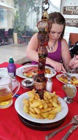 El Rancho: Kebab was well tasty