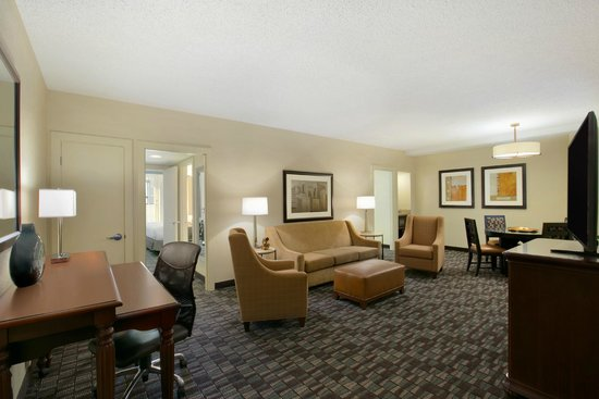 Embassy Suites by Hilton New Orleans Convention Center: Deluxe Two Bedroom Suite Living Room