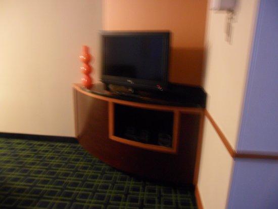 Fairfield Inn & Suites Lewisburg: tv in suite