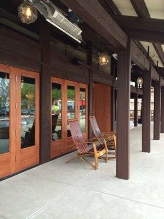 The Cooperage American Grille: front patio