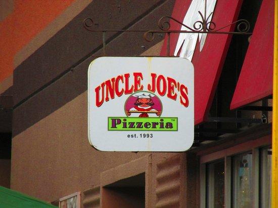 Uncle Joe's Pizzeria: Sign