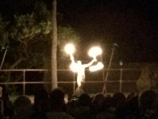 Royal Kona Resort Luau: fire dancer after dark!