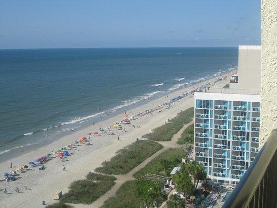 Sea Crest Oceanfront Resort: view from room balcony