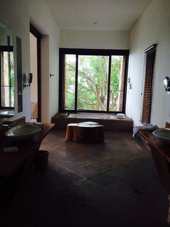 Imanta Resort: One side of the bathroom