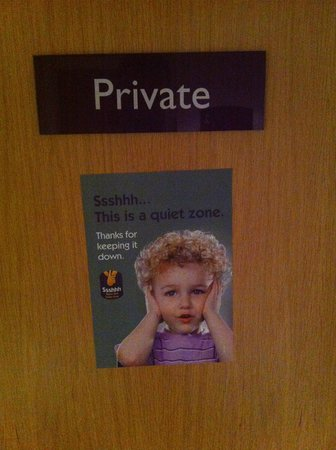 Premier Inn Manchester Airport (M56/J6) Runger Lane South: The cleaners' cupboard opposite our room. Oh, the irony.