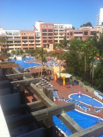 H10 Mediterranean Village: View from the rooftop of the pools.