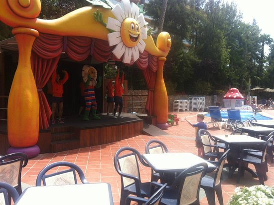 H10 Mediterranean Village: Outside stage for the entertainment team.