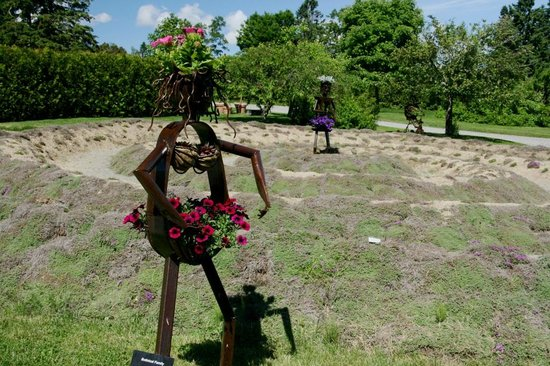Kingsbrae Garden: The members of this botanical family are part of the whimsical sculpture collection in the garde