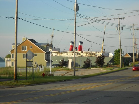 Super 8 Manistee: SS City of Milwaukee, facing south