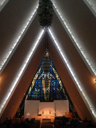 Arctic Cathedral: Natural light on a foggy night