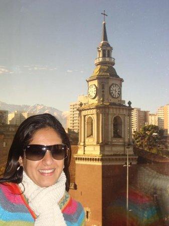 Na janela do hotel Libertador