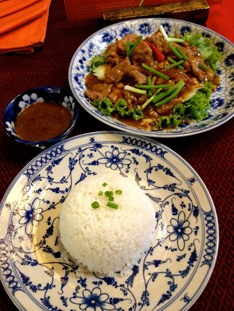 Golden Temple Villa: Khmer Lok Lak - delicious!