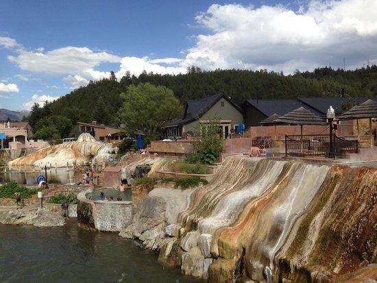 The Springs Resort & Spa : Springs Resort view taken from foot bridge to main street in town.