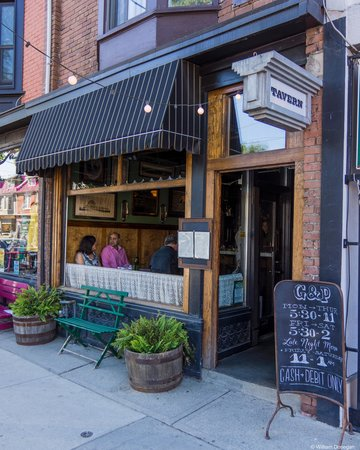 Photo of French Restaurant Goods and Provisions at 1124 Queen St. East, Toronto, Canada