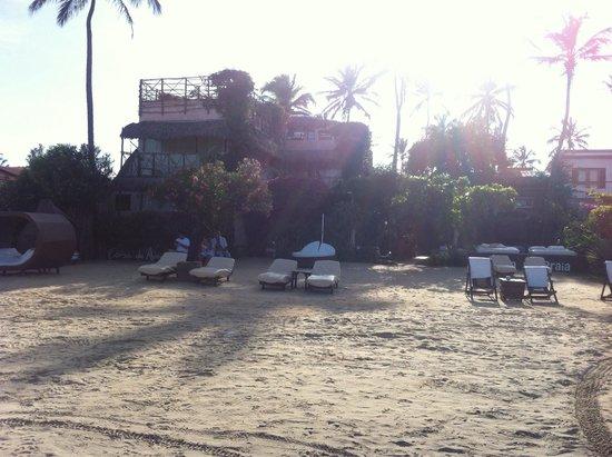 Casa na Praia : Vista da entrada da pousada.