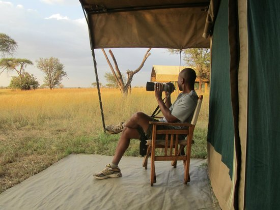 Ubuntu Camp, Asilia Africa: Enjoying the view from our tent